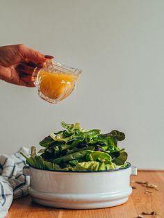 Sinappivinegretti - Maailman paras salaatinkastike   Annin Uunissa Vegetarian Recipes, Cooking Recipes, Healthy Recipes, Most Delicious Recipe, Just Eat It, Yummy Food, Tasty, Desert Recipes, Plant Based Recipes