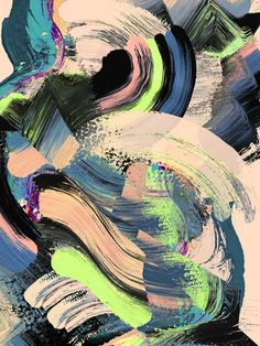 Painterly print design by Irina muñoz Abstract Photos, Abstract Art, Abstract Expressionism, Glitch Art, Background Patterns, Print Design, Art Drawings, Illustration Art, Collage