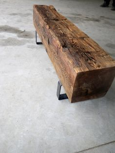 Reclaimed Barn Beam Bench