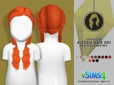 LEAH LILLITH ALESSIA HAIR 001 TODDLER VERSION by Thiago Mitchell at Coupure Electrique • Sims 4 Updates
