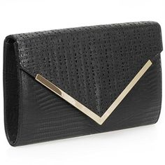 VIDA Leather Statement Clutch - Heart In Octagon Pattern by VIDA lhFzxCFQU