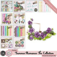 Freebie cluster on my FB Fan Page.  Matches SUmmer Romance Collection (collab with SKrapper Digitals) https://www.facebook.com/ADBDesignsScrapbooking