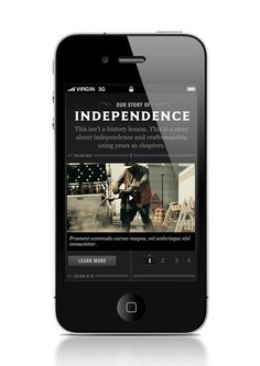 Jack Daniels Web Experience by John Magnifico, via Behance