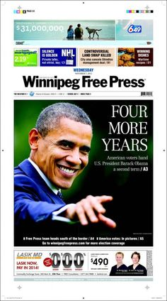 Especial portadas del 7 de Noviembre 2012, Elecciones en EEUU: Obama reelegido presidente | discutivo.com