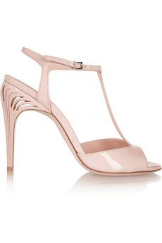 Fendi Patent-leather T-bar sandals | NET-A-PORTER