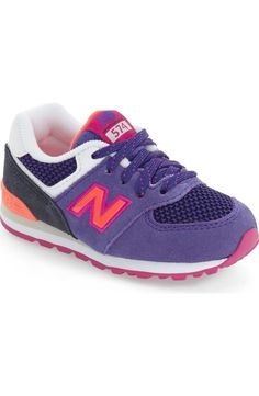 Adoring these retro-inspired New Balance sneakers for the little one.