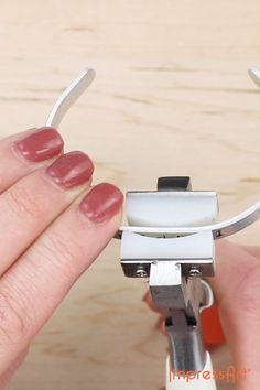 No bracelet stamping project is complete without bracelet bending! Use our Bracelet Bending Bar for a cuff with a flat top and finish it off, by using our Bracelet Bending Pliers for a smooth, rounded top. Jewelry stamping is fun… Continue Reading → Diy Jewelry Unique, Diy Jewelry To Sell, Diy Jewelry Tutorials, Jewelry Tools, Diy Jewelry Making, Metal Jewelry, Jewelry Crafts, Gold Jewelry, Gold Bracelets