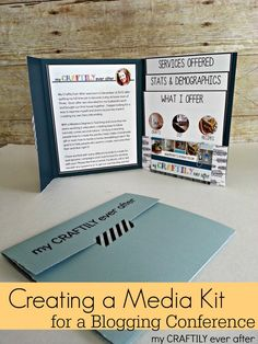 Creating a Media Kit for a Blogging Conference