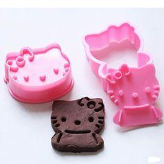 joyliveCY 2pcs / Set Hallo Kitty Form Fondant Kuchen Plätzchen Dekoration Sugarcraft Fondant Backwerkzeuge: Amazon.de: Küche & Haushalt