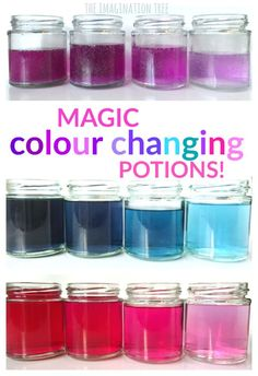 Play with color in this magical science project: colour changing potions!
