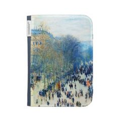 SOLD! - Boulevard des Capucines Claude Monet fine art Kindle Keyboard Case #boulevard #Capucines #Monet #art #impressionism #Kindle #Case #keyboard #folio #cover #gift #electronic #accessories #classy