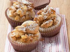 Bananenmuffins mit Amaretti-Topping   Zeit: 25 Min.   http://eatsmarter.de/rezepte/bananenmuffins-mit-amaretti-topping