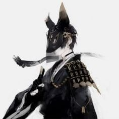tag~ Handome anime guy , cool , black , kitsune, clad in armor Manga Boy, Manga Anime, Anime Art, Anime Fox Boy, Fantasy Characters, Anime Characters, Kitsune Maske, Anime Sword, Japanese Fox Mask