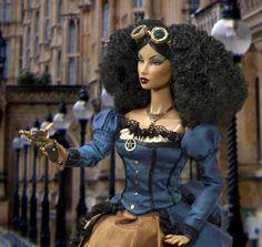 Beautiful African American Steampunk doll