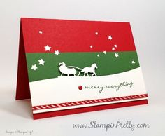stampin up holiday christmas card ideas sleigh ride edgelits dies mary fish stampin pretty stampinup demonstrator blog