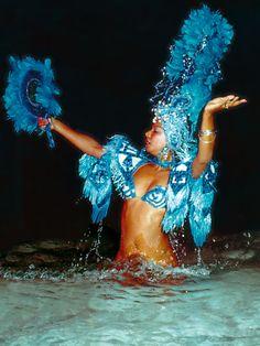 Yemaya dancing in the water