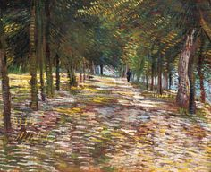 Vincent van Gogh Avenue in the Voyer d'Argenson Park at Asnieres painting is shipped worldwide,including stretched canvas and framed art.This Vincent van Gogh Avenue in the Voyer d'Argenson Park at Asnieres painting is available at custom size. Vincent Van Gogh, Paul Gauguin, Claude Monet, Desenhos Van Gogh, Van Gogh Arte, Artist Van Gogh, Mary Cassatt, Van Gogh Paintings, Impressionist