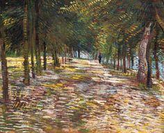 Vincent van Gogh (Dutch, Post-Impressionism, 1853-1890): Avenue in Voyer d'Argenson Park at Asnieres (L'Avenue au parc de Voyer, d'Argenson à Asnières), 1887.