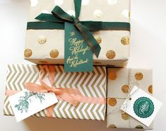chic modern holiday gift wrap
