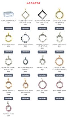 Full range of South Hill Designs Lockets. Purchase from www.southhilldesigns.com/sarahpoulton