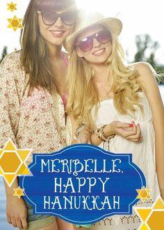 Radiant Star - Hanukkah Greeting Cards in Periwinkle | Magnolia Press