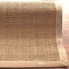 Handmade Eco Natural Fiber Cotton Border Sisal Rug (9 x 12)