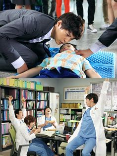 In an episode of Good Doctor, Joo Won and Moon Chae Won's characters have a bonding time, as they grocery shop together. Joo Won's Park Shi On, who's autistic, comes off shy while Moon's Cha Yoon Seo seems very sociable, perhaps carrying the conversation. The scene was shot at a supermarket in Yangjae-dong, Seoul on the 21st, with the actors filming late into the night. Good Doctor Korean Drama, Savant Syndrome, Joo Sang Wook, Kim Young Kwang, Yoon Seo, Yoon Park, Hospital Doctor, Moon Chae Won, Joo Won