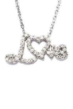 Love 'Pendant' Necklace.
