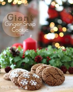 Christmas is over but ginger snap cookie recipes are good any time of the year