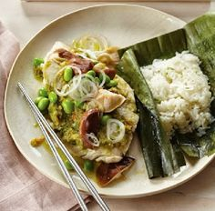 Steamed Red Snapper with Mushrooms and Ginger Recipe