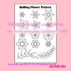 DIY Scrapbooking Paper Quilling Tools,stripper/co-ordinate/14 Quilling flower parttern drawing Collection Photo Cards Decoration