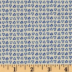 Cotton + Steel Printshop Point Blue from @fabricdotcom  Designed by Alexia Marcelle Abegg for Cotton + Steel, this cotton print is perfect for quilting, apparel and home decor accents. Colors include neutral with royal blue triangles.