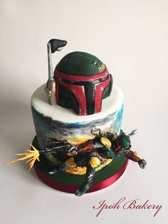 This Boba Fett cake is too cool!