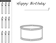 color the happy birthday cake worksheets birthday cakes and happy birthday. Black Bedroom Furniture Sets. Home Design Ideas