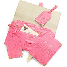 Pink Lizard Print & Cream Suede    The perfect travel accessory to your hand luggage, make sure you stay organised in style with our Classic Plain Travel Collection.