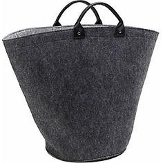 Home affaire Filztasche »Halina« Straw Bag, Tote Bag, Bags, Products, Inspiration, Fashion, Felting, Colour Gray, Handbags