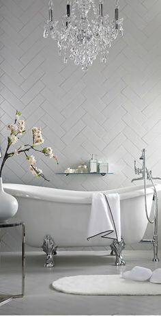 I love the herringbone pattern of the tile!