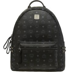 SS14 NEW MCM STARK MEDIUM BACKPACK BLACK MMK3AVE38BK