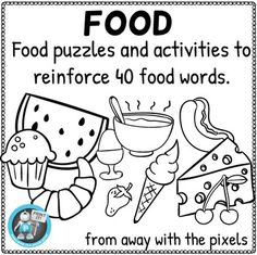 Free for 24 hours! To celebrate the opening of my new store, I am making all new products free for the first 24 hours. Remember to follow my store for news of new products and freebies!This is a set of resources to help ESL students learn and practice the names of 40 foods in English.