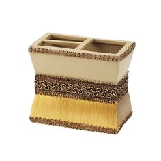 Braided Medallion Toothbrush Holder | Overstock.com Shopping - The Best Deals on Bathroom Accessory Sets