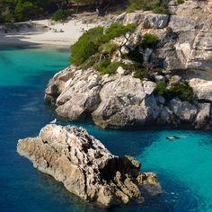 Snorkeling in Menorca's turquoise sea by B℮n, via Flickr