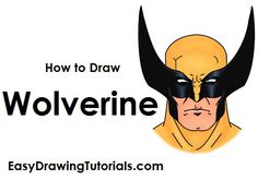 Learn how to draw Marvel Comics' Wolverine with this step-by-step tutorial and video. A new cartoon drawing tutorial is uploaded every week, so stay tooned! Cartoon Drawing Tutorial, Cartoon Drawings, How To Draw Wolverine, Draw Two, Head Shapes, Learn To Draw, X Men, Marvel Comics, Batman
