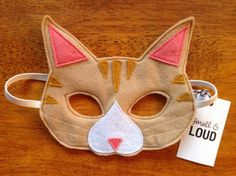 Tabby cat felt mask soft & durable for kids' by SmallandLoud