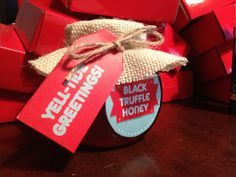 Gifts for our lovely clients, home made French Black Truffle Honey