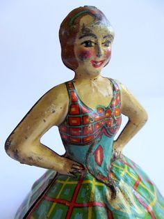 Vintage Tin Toy Litho Ballerina Marx 1930s