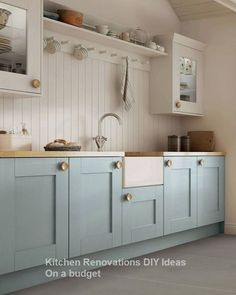 Have a peek at this web-site chatting about Small Kitchen Renovation Blue Kitchen Cabinets, Kitchen Cabinet Colors, Painting Kitchen Cabinets, Kitchen Paint, Kitchen Counters, Kitchen Islands, Kitchen Layout, Wood Countertops, Pantry Cabinets