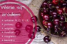 Wiśnie - dlaczego warto je jeść? #wiśnie #owoce #cherries #zdrowie #witaminy #jedzenie