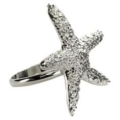 """Starfish Napkin Ring in Silver. I never """"do"""" napkin rings but this could have other uses..."""