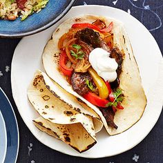 7 Healthy & Easy Stir Fry Ideas -- I'm going to bag these ingredients ahead to keep in the fridge for quick dinners![featured: Spicy Beef and Pepper Fajitas]
