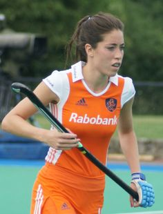 Naomi van As is a Dutch field hockey player who plays as a forward/midfield for a Dutch club MHC Laren and the Netherlands national team.